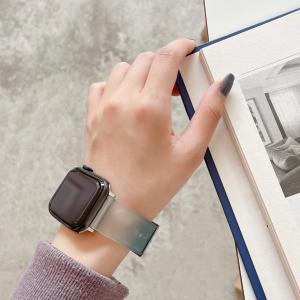 Apple watch アップル ウォッチ 夏用 シリコン バンド カラフル 3-6 se 38 4...