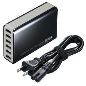 6ポートUSB充電器 ブラック|myoffice
