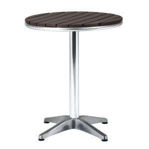アルミガ−デンファニチャー 屋外使用可能な木目調アルミテーブル|myoffice