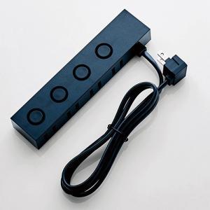 デザインタップ un modo 2ピン 4個口 ロック付 1m ブラック|myoffice