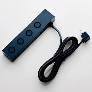 デザインタップ un modo 2ピン 4個口 ロック付 2m ブラック|myoffice