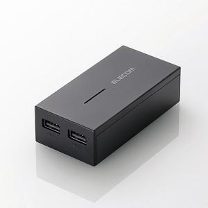 モバイルバッテリー 軽量コンパクト まとめて充電対応 Type-Cケーブル同梱 6000mAh 3A ブラック|myoffice