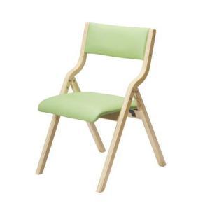 木製フレーム折り畳みホームチェア(グリーン)|myoffice