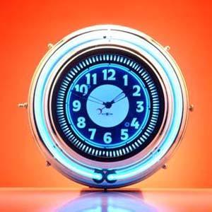 ネオンクロック/ブルー:ブルー GM-7502 myoffice