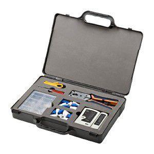 LANケーブル自作の必需品、工具、コネクタ、テスターをコンパクトにまとめたセット myoffice