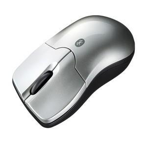 Bluetooth3.0 ブルーLEDマウス 3ボタン 超小型 長寿命 シルバー myoffice