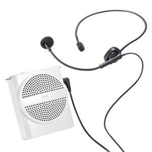 ハンズフリー拡声器スピーカー両手が自由に使える 超小型軽量ポータブルタイプ(ホワイト)|myoffice