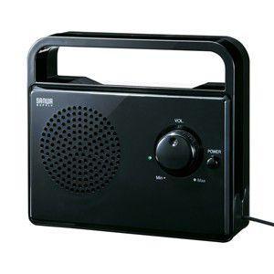 TV用手元延長スピーカー(ケーブル長5m・ブラック)テレビの音を手元・耳元ではっきり聴くための手元延長スピーカー。|myoffice