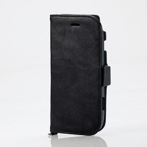らくらくスマートフォン4(F-04J) ソフトレザーカバー サイドマグネット ブラック myoffice