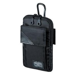 スキミング防止ポケット付きマルチガジェットケース Mサイズ ブラック myoffice