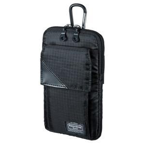 スキミング防止ポケット付きマルチガジェットケース Lサイズ ブラック myoffice