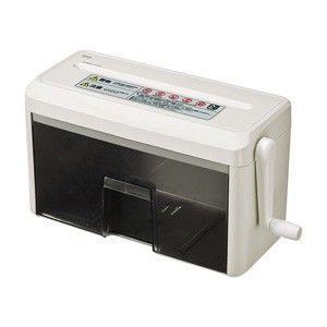 ハンドシュレッダー ゴミ捨てに便利な引き出し式の手動式クロスカットシュレッダー。 myoffice