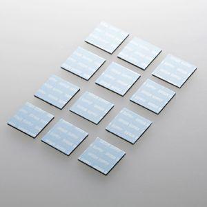 ノートパソコン冷却パッド(12枚入り・ブルー) 小さくて軽い。機器に貼るだけで強力放熱できる冷却パッド。12枚入り・ブルー。 myoffice
