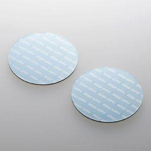 ノートパソコン冷却パッド(丸型・2枚入り・ブルー) 小さくて軽い。機器に貼るだけで強力放熱できる冷却パッド。丸型・2枚入り・ブルー。 myoffice