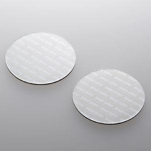 ノートパソコン冷却パッド(丸型・2枚入り・シルバー) 小さくて軽い。機器に貼るだけで強力放熱できる冷却パッド。丸型・2枚入り・シルバー。 myoffice