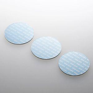 ノートパソコン冷却パッド(丸型・3枚入り・ブルー) 小さくて軽い。機器に貼るだけで強力放熱できる冷却パッド。丸型・3枚入り・ブルー。 myoffice
