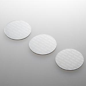 ノートパソコン冷却パッド(丸型・3枚入り・シルバー) 小さくて軽い。機器に貼るだけで強力放熱できる冷却パッド。丸型・3枚入り・シルバー。 myoffice