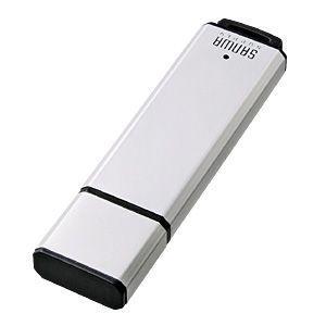 USB2.0メモリ(シルバー・1GB) シンプルなアルミボディのUSBメモリ。シルバー・1GB。