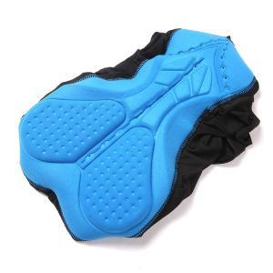 STL サイクルパンツ 自転車パンツ 3D肉厚クッション付き 2枚セットお尻痛み軽減 大きいパッド ...