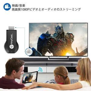 2019最新アップグレード HDMIミラーキャスト クロームキャスト 2.4GWifiディスプレイ ...