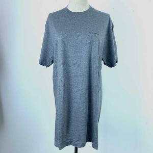 [Dolce & Gabbana] 半袖Tシャツ 綿100% ダークグレー メンズ Mサイズ クリッ...