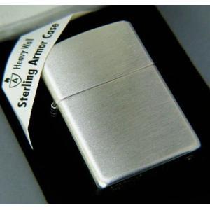 【送料無料おまけ付】zippo#27 アーマー ARMOR スターリングシルバー925 純銀 サテン仕上げ|mysen