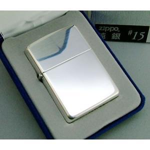 【送料無料おまけ付】純銀zippo スターリングシルバー925 #15 ジッポー|mysen