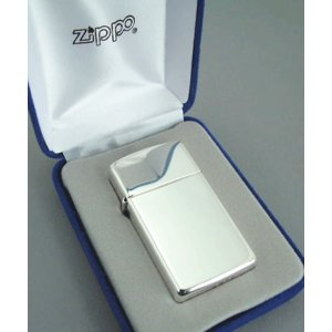 【送料無料おまけ付】純銀zippo スターリングシルバー925 #1500  スリムタイプ ジッポー|mysen