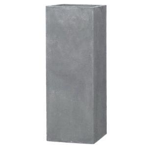【商品名】 ファイバークレイ製 軽量 大型植木鉢 バスク タワー グレー H120cm