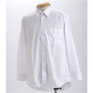 ブラック & ホワイト ワイシャツ2枚セット 長袖 LL 〔 2点お得セット 〕
