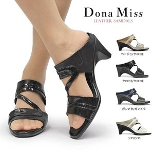 ドナミス 靴 ミュール 329 レディース サンダル レザー 日本製 Dona Miss 美脚 本革|myskip-sp