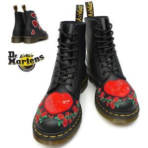 ドクターマーチン 8ホール ブーツ 1460 パスカル ハート レディース 正規品 24406001 ラウンドトゥ 薔薇 刺繍|myskip-sp