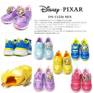 ディズニー 子供靴 DN C1226 MIX 光る靴 スニーカー マジック式 ディズニー映画 プリンセス トイストーリー|myskip-sp|03