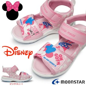 ィズニー サンダル キッズ ミニー DN C1232 子供靴 マジック式 スポーツサンダル 女の子 ムーンスター|myskip-sp