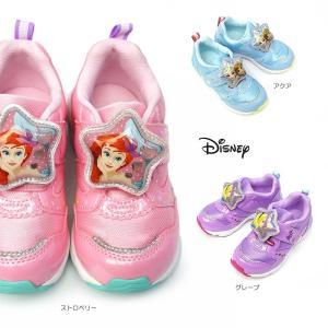 ディズニー 子供靴 DN C1244 光る靴 スニーカー マジック式 ベルクロ 女の子 ガールズ LED搭載|myskip-sp