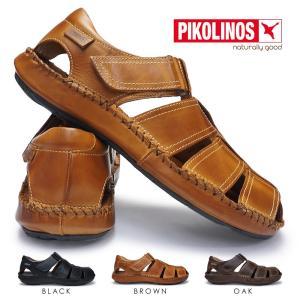 ピコリノス メンズ カジュアルシューズ PK-290 06J-5433 タリファ 本革 サンダル|myskip-sp
