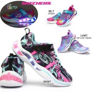 スケッチャーズ 光る靴 ガールズ 20203L エスライツ 総柄 子供靴 女の子 スニーカー キッズ ジュニア myskip-sp