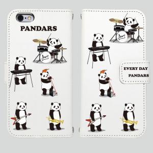 iPhone8 iPhone7 iPhone6/6s iPhone 5/5s/SE アイフォン ケース  手帳 型 パンダ バンド|mysma