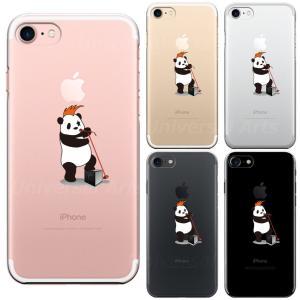 iPhone8 8Plus iPhone7 7Plus iPhone6/6s iPhone 5/5s/SE アイフォン スマホ クリアケース 保護フィルム付 ボーカル パンダ|mysma