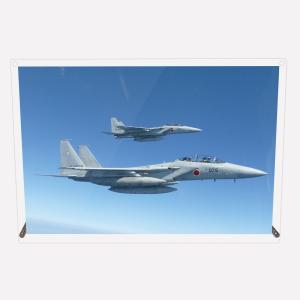 CuVery アクリル プレート 写真 航空自衛隊 第201飛行隊 F-15DJ 2機編隊 A3サイズ mysma