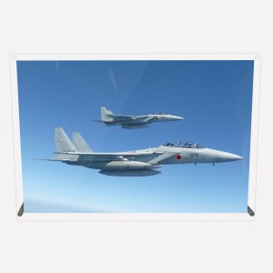 CuVery アクリル プレート 写真 航空自衛隊 第201飛行隊 F-15DJ 2機編隊 A4サイズ mysma