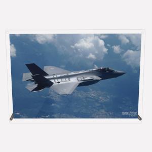 CuVery アクリル プレート 写真 航空自衛隊 戦闘機 F-35A ライトニングII A3サイズ mysma
