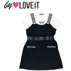10%OFF by LOVE iT バイラビット  Tシャツ&ジャンパースカートセット 7811324-BK(80)|mystylist