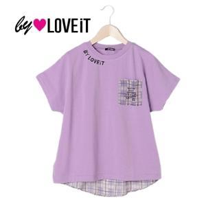10%OFF by LOVE iT バイラビット  チェック切り替えTシャツ 7812201-LV(61)|mystylist