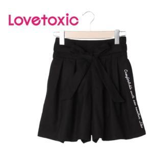 [Sale]60%OFF lovetoxic ラブトキシック リボンベルトつきキュロット(ブラック80)8303169 mystylist
