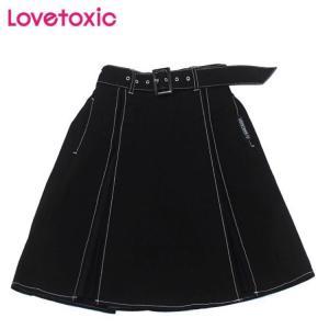 [Sale]60%OFF lovetoxic ラブトキシック サイドプリーツ切り替えスカート(ブラック80)8303178 mystylist