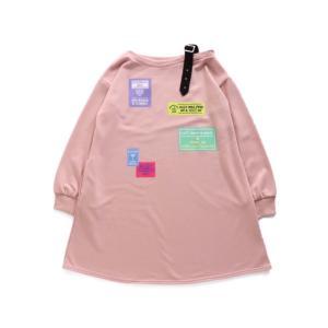 [50%OFF]ALGY ワッペンプリントワンショルワンピ(ピンク)G517900|mystylist