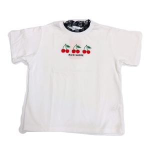 【RICO SUCRE】レースさくらんぼTシャツ(オフホワイト)  RCTS202959|mystylist