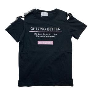 【RICO SUCRE】肩ベルト付きオフショルダーTシャツ(ブラック)  RCTS202968|mystylist
