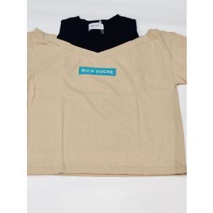 【RICO SUCRE】オフショルレイヤード風Tシャツ(ベージュ)  RCTS202969|mystylist